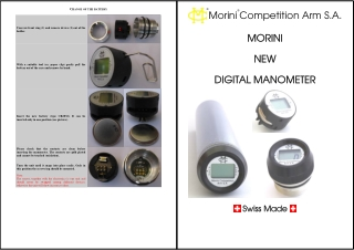 Competition Arm S.A. MORINI MORINI NEW NEW DIGITAL MANOMETER DIGITAL MANOMETER