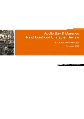 Apollo Bay & Marengo Neighbourhood Character Review