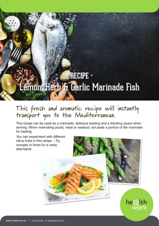 Lemon, Herb & Garlic Marinade Fish