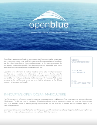 INNOVATIVE OPEN OCEAN MARICULTURE