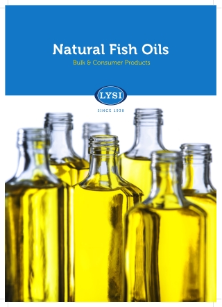 Natural Fish Oils