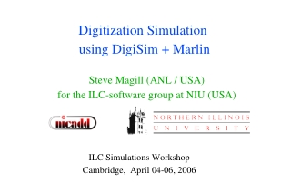 Digitization Simulation  using DigiSim + Marlin