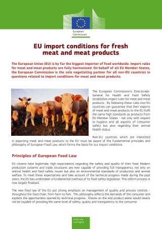 EU import conditions for fresh meat and meat products