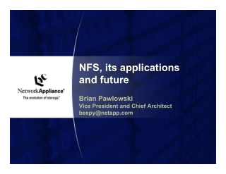 NFS, its applications and future