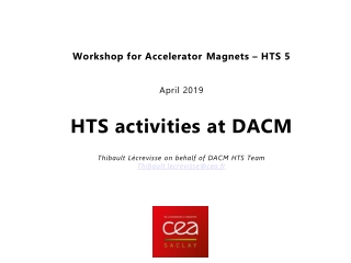 HTS activities at DACM