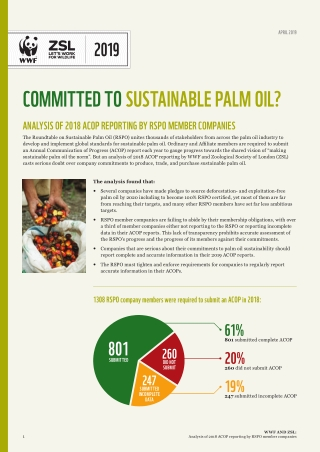 COMMITTED TO SUSTAINABLE PALM OIL?