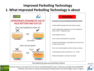 1. What Improved Parboiling Technology is about