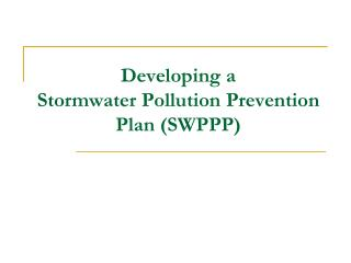 Adding to a Stormwater Pollution Prevention Plan SWPPP