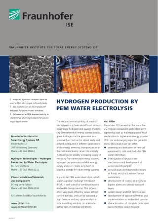 HYDROGEN PRODUCTION BY PEM WATER ELECTROLYSIS
