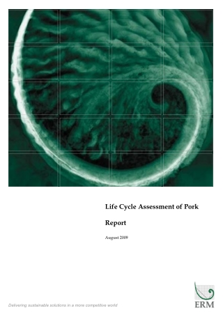 Life Cycle Assessment of Pork Report