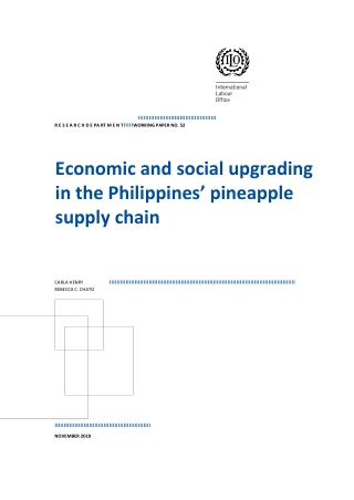 Economic and social upgrading in