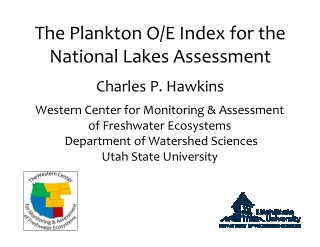 The Plankton O/E Index for the National Lakes Assessment