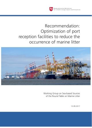 Recommendation: Optimization of port reception facilities to reduce the occurrence of marine litter