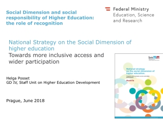 National Strategy on the Social Dimension of higher education Towards more inclusive access and wider participation