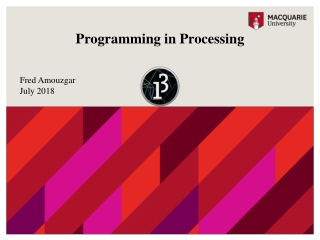 Programming in Processing
