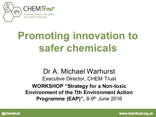 Promoting innovation to safer chemicals