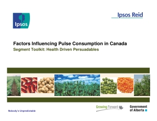 Factors Influencing Pulse Consumption in Canada