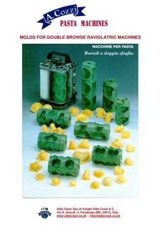 MOLDS FOR DOUBLE BROWSE RAVIOLATRIC MACHINES