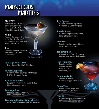 MARVELOUS MARTINIS