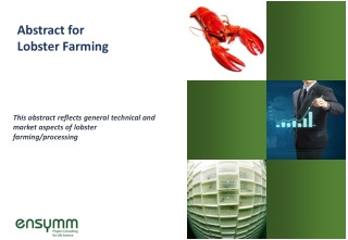 Abstract for Lobster Farming