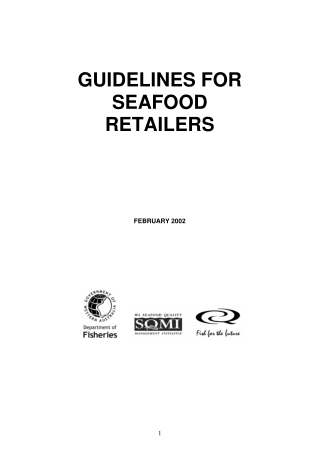 GUIDELINES FOR SEAFOOD RETAILERS