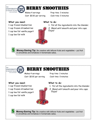 Berry Smoothies Berry Smoothies