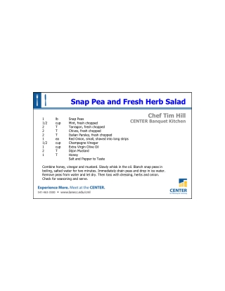 Snap Pea and Fresh Herb Salad
