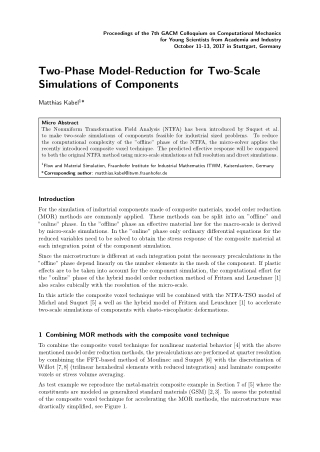 Two-Phase Model-Reduction for Two-Scale Simulations of Components