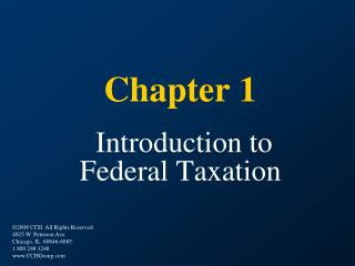 Part 1 Introduction to Federal Taxation