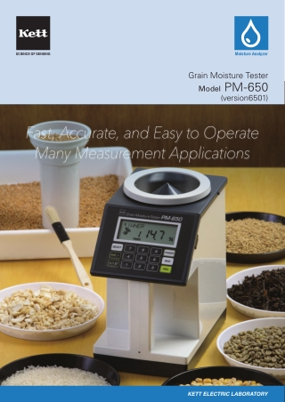 Fast, Accurate, and Easy to Operate Many Measurement Applications