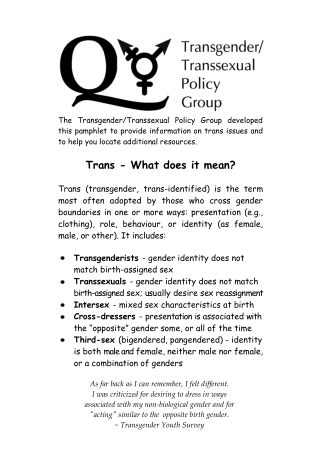 Trans - What does it mean?