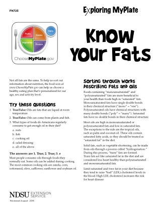 Know Your Fats