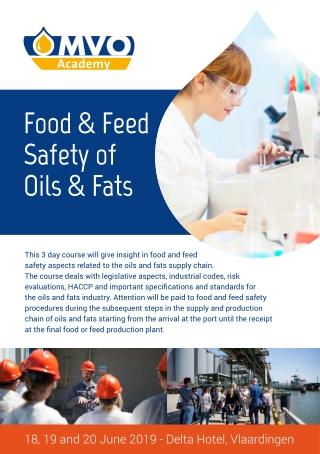 Food & Feed Safety of Oils & Fats