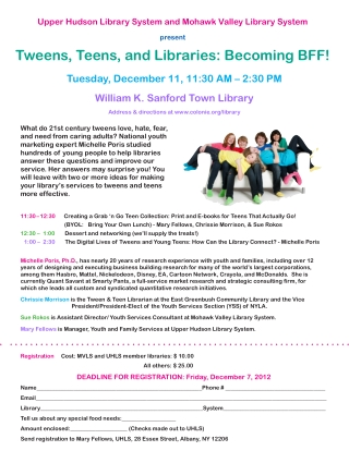Tweens, Teens, and Libraries: Becoming BFF!