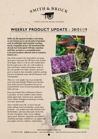 WEEKLY PRODUCT UPDATE -