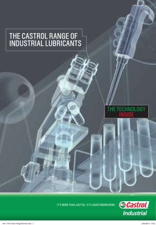THE CASTROL RANGE OF INDUSTRIAL LUBRICANTS