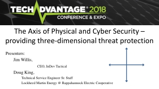 The Axis of Physical and Cyber Security – providing three-dimensional threat protection