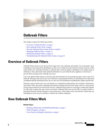 Outbreak Filters