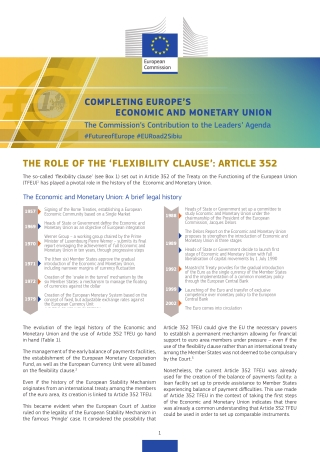 THE ROLE OF THE 'FLEXIBILITY CLAUSE': ARTICLE 352