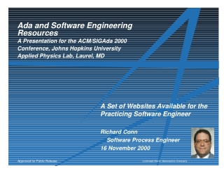 Ada and Software Engineering Resources