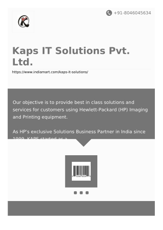 Kaps IT Solutions Pvt. Ltd.