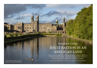 JESUIT BASTION IN AN ANGLICAN LAND