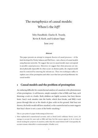 The metaphysics of causal models: