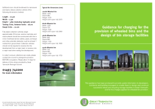 Guidance for charging for the provision of wheeled bins and the design of bin storage facilities