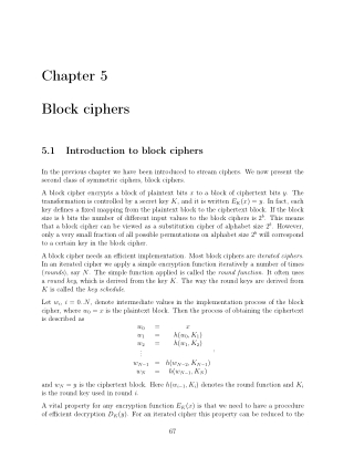 Chapter 5 Block ciphers
