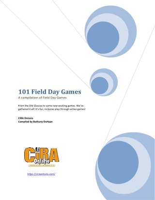 101 Field Day Games