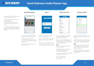 Quick Reference Guide Planner App