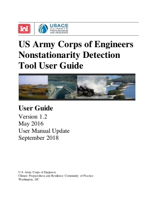 US Army Corps of Engineers Nonstationarity Detection Tool User Guide