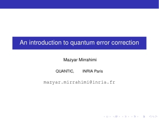 An introduction to quantum error correction