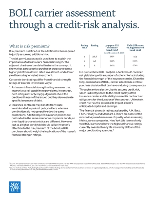 BOLI carrier assessment through a credit-risk analysis.